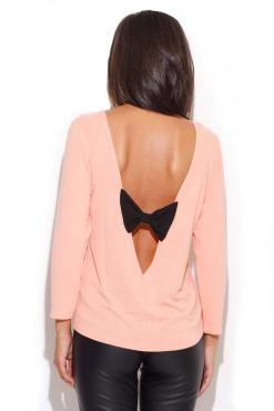 Salmon Pink Coffee Time Classic Blouse