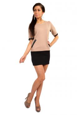 Cream Millennium Trend Straight Cut Tunic