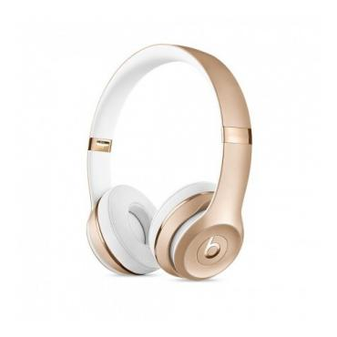 HEADPHONES, Beats Solo 3, Wireless, Mic, Gold (MNER2ZM/A)