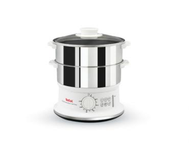 Уред за готвене на пара, Tefal Convenient series, White/Inox (VC145130)