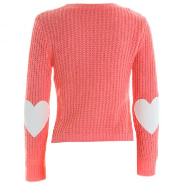 Love Elbow Heart Stitch Knit