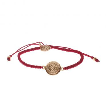 Barong Barong Bracelet One Luck Ganesha Ros�� - Red