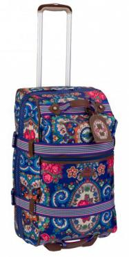 Oilily L Trolley Soft Tasche Reisekoffer Travel Blau Blue