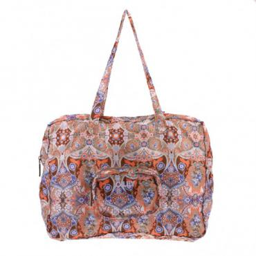 Oilily Summer Mosaic Folding Carry All - Fig
