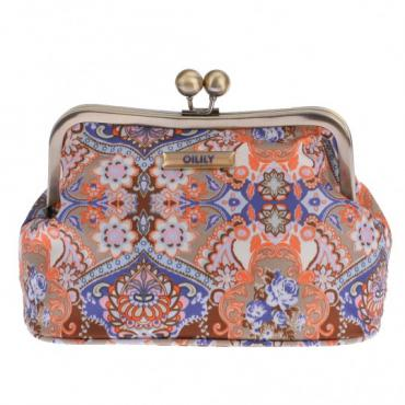 Oilily Summer Mosaic Frame Cosmetic Bag - Fig