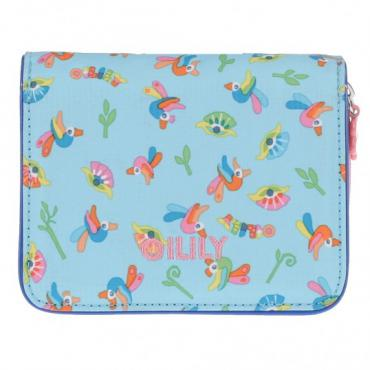 Oilily Dutch Islands Flap Wallet - Aqua