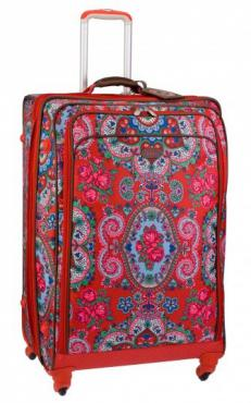 Oilily XL Trolley Hard Tasche Reisekoffer Travel Rot Red