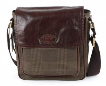 Fossil Transit Plaid City Bag - Olive