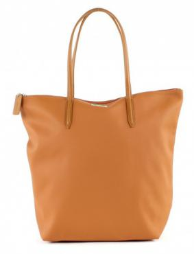 LACOSTE L.12.12 Concept Vertical Tote Bag - Sudan Brown