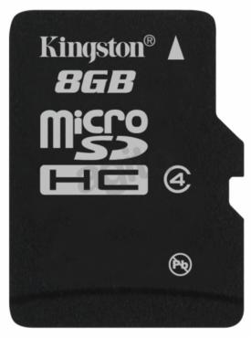 Kingston microSDHC 8 GB Class 4 bez adaptera (SDC4/8GBSP)