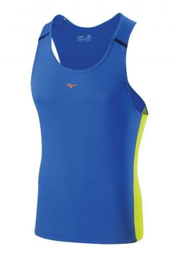 Mizuno Drylite Cooltouch Singlet Directorie Blue / Lime Green