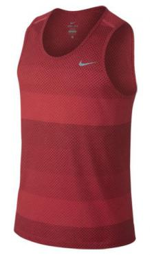 Nike Dri-fit Cool Tailwind Stripe Daring Red