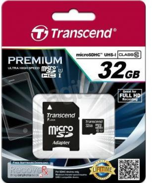Transcend microSD 32GB Class10 UHS-1 + adapter