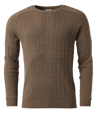 Clay cable crew neck