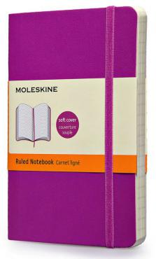 Moleskine Coloured Ruled Notebook Soft Pocket Orchid Purple