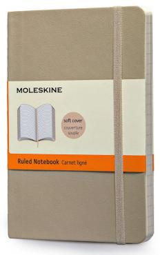 Moleskine Coloured Ruled Notebook Soft Pocket Khaki Beige