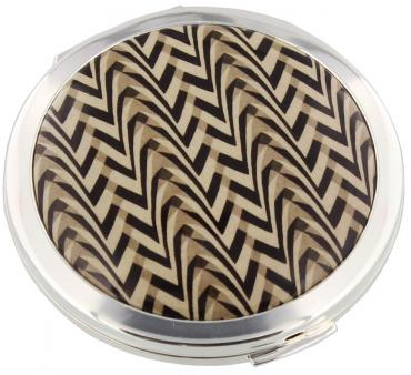 Stratton V & A Coll Deco Chevron Loose Powder Compact 70mm
