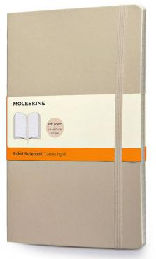 Moleskine Coloured Ruled Notebook Soft Large Khaki Beige