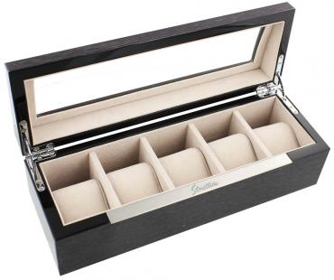 Stratton Wooden Watch Box Holds 5 Watches - Natural