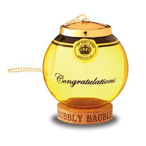 Gold Glass Bubbly Bauble Cork Keepsake