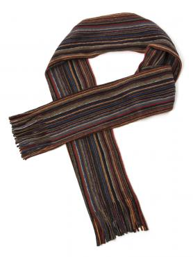 Tom English Tom English Martin Rust Stripe Scarf 0 Rust