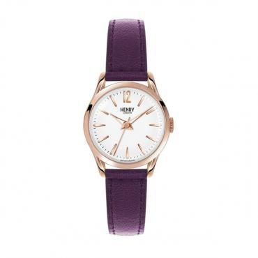 Henry London Hampstead Watch - Plum/Gold