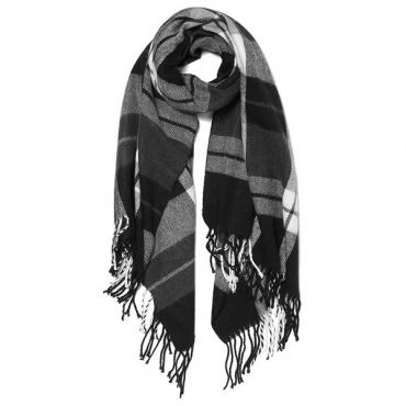 Vero Moda Women's Checko Long Scarf - Black