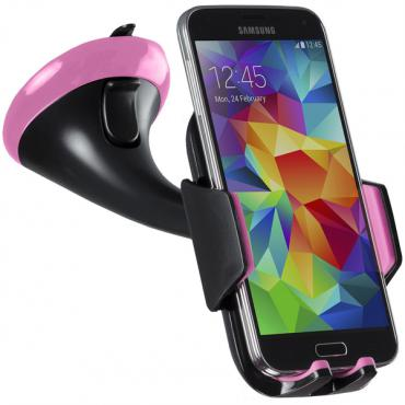 Kit Universal Smartphone Holder with Silicon Pad Bulk - Pink
