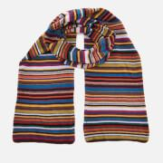 Paul Smith Men's Multistripe Knitted Scarf - Multi