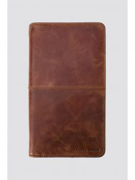 Racing Green Leather Travel Document Holder 0 Brown