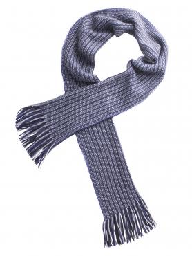 Tom English Claude Blue Chunky Knit Scarf 0 Blue