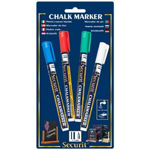 Securit Liquid Chalk Markers Colours (Pack of 4 Colours)