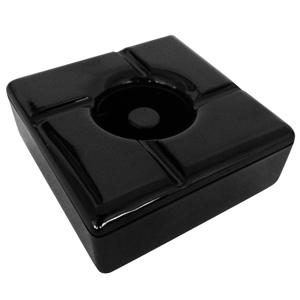 Windproof Square Melamine Ashtray Black (Single)