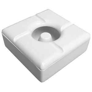 Windproof Square Melamine Ashtray White (Case of 12)
