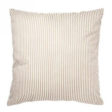 Light grey striped cushion