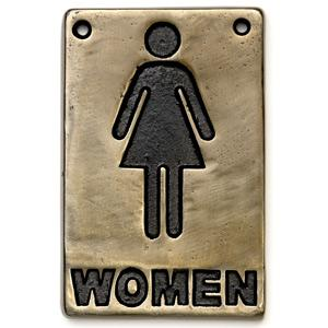 Bronze Toilet Sign Women (Single)